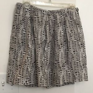 Grey and black linen Madewell skirt